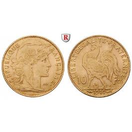 Frankreich, III. Republik, 10 Francs 1899-1914, 2,9 g fein, ss
