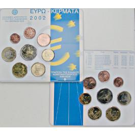 Griechenland, Republik, Euro-Kursmünzensatz 2002, st