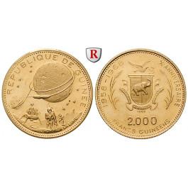 Guinea, 2000 Francs 1969, 7,2 g fein, PP