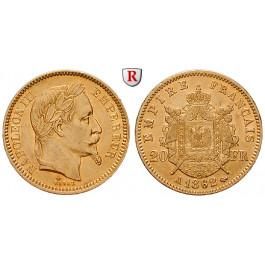Frankreich, Napoleon III., 20 Francs 1861-1870, 5,81 g fein, ss-vz
