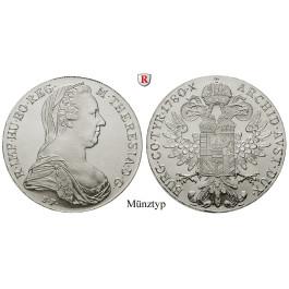 Römisch Deutsches Reich, Maria Theresia, Taler 1780, 23,38 g fein, st