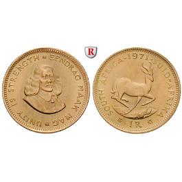 Südafrika, Republik, Rand 1961-1983, 3,66 g fein, vz-st