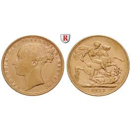 Grossbritannien, Victoria, Sovereign 1871-1885, 7,32 g fein, ss