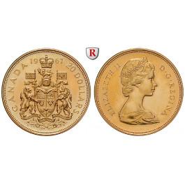 Kanada, Elizabeth II., 20 Dollars 1967, 16,44 g fein, PP