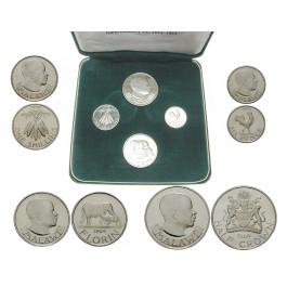 Malawi, Kursmünzensatz 1964, PP