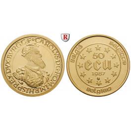 Belgien, Königreich, Baudouin I., 50 Ecu 1987, 15,55 g fein, st