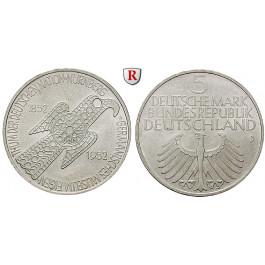 Bundesrepublik Deutschland, 5 DM 1952, Germanisches Museum, D, vz, J. 388