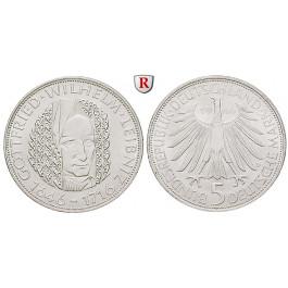 Bundesrepublik Deutschland, 5 DM 1966, Leibniz, D, PP, J. 394