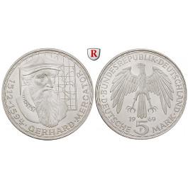 Bundesrepublik Deutschland, 5 DM 1969, Mercator, F, vz-st, J. 400