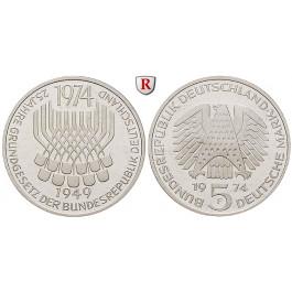 Bundesrepublik Deutschland, 5 DM 1974, Grundgesetz, F, vz-st, J. 413