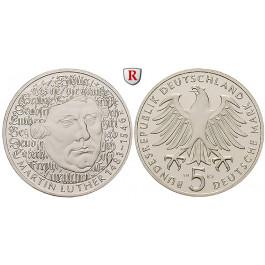 Bundesrepublik Deutschland, 5 DM 1983, Luther, G, vz-st, J. 434