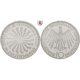 Bundesrepublik Deutschland, 10 DM 1972, Spirale Deutschland, D, PP, J. 401a