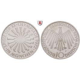 Bundesrepublik Deutschland, 10 DM 1972, Spirale München, D, vz-st, J. 401b
