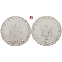 Bundesrepublik Deutschland, 10 DM 1989, Hamburger Hafen, J, bfr., J. 448