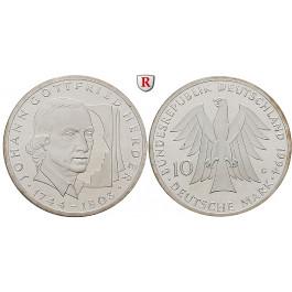 Bundesrepublik Deutschland, 10 DM 1994, Herder, G, PP, J. 458