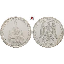 Bundesrepublik Deutschland, 10 DM 1995, Frauenkirche Dresden, J, PP, J. 460