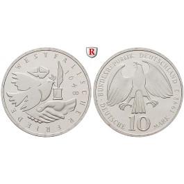 Bundesrepublik Deutschland, 10 DM 1998, Westfälischer Friede, J, bfr., J. 467