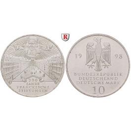 Bundesrepublik Deutschland, 10 DM 1998, Franckesche Stiftungen, ADFGJ komplett, PP, J. 470