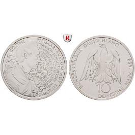 Bundesrepublik Deutschland, 10 DM 1999, Goethe / Weimar, F, bfr., J. 473