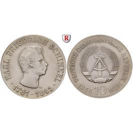 DDR, 10 Mark 1966, Schinkel, st, J. 1517