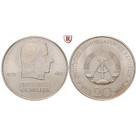 DDR, 20 Mark 1972, von Schiller, vz, J. 1537