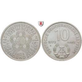 DDR, 10 Mark 1973, Weltjugendspiele, vz, J. 1545
