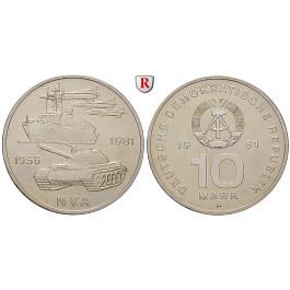 DDR, 10 Mark 1981, 25 Jahre NVA, vz-st, J. 1578