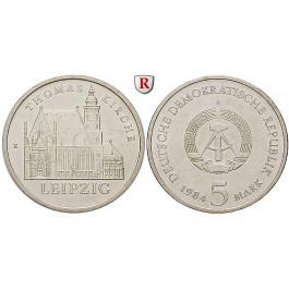 DDR, 5 Mark 1984, Thomaskirche, st, J. 1598