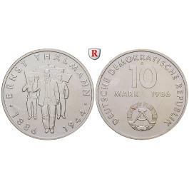 DDR, 10 Mark 1986, Thälmann, vz-st, J. 1608