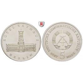DDR, 5 Mark 1987, Rotes Rathaus, st, J. 1614