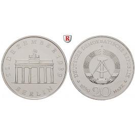 DDR, 20 Mark 1990, Brandenburger Tor, st, J. 1635 S
