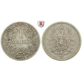 Deutsches Kaiserreich, 1 Mark 1877, B, f.ss, J. 9