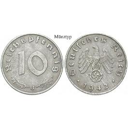 Drittes Reich, 10 Reichspfennig 1943, E, ss+, J. 371