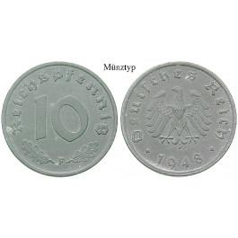 Alliierte Besatzung, 10 Reichspfennig 1947, A, vz-st, J. 375