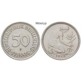 Bundesrepublik Deutschland, 50 Pfennig 1967, J, f.st, J. 384