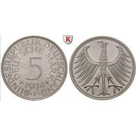 Bundesrepublik Deutschland, 5 DM 1967, Adler, G, vz-st, J. 387