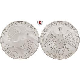 Bundesrepublik Deutschland, 10 DM 1972, Verschlungene Arme, G, vz-st, J. 402