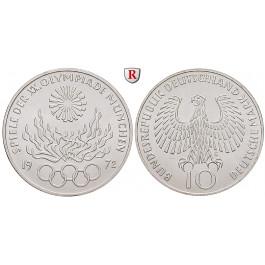 Bundesrepublik Deutschland, 10 DM 1972, Feuer, G, PP, J. 405