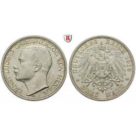 Deutsches Kaiserreich, Hessen, Ernst Ludwig, 3 Mark 1910, A, f.vz, J. 76
