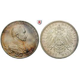 Deutsches Kaiserreich, Preussen, Wilhelm II., 3 Mark 1913, Regierungsjubiläum, A, vz/st, J. 112