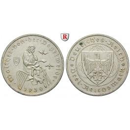 Weimarer Republik, 3 Reichsmark 1930, Vogelweide, A, vz+, J. 344