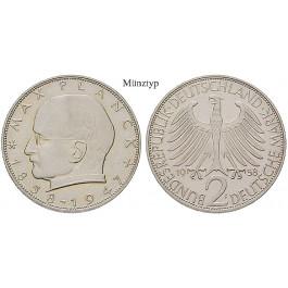 Bundesrepublik Deutschland, 2 DM 1966, Planck, J, f.st, J. 392