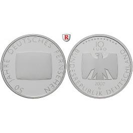 Bundesrepublik Deutschland, 10 Euro 2002, 50 Jahre Fernsehen., G, PP, J. 496