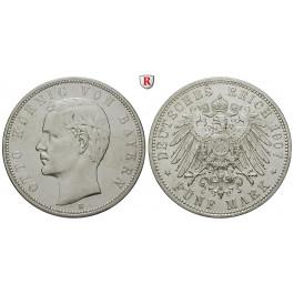 Deutsches Kaiserreich, Bayern, Otto, 5 Mark 1907, D, ss+, J. 46
