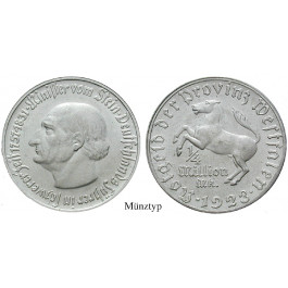 Nebengebiete, Westfalen, 1/4 Million Mark 1923, vom Stein, vz, J. N24