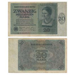 Inflation 1919-1924, 20 Bill Mark 05.02.1924, III, Rb. 135