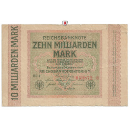 Inflation 1919-1924, 10 Md Mark 01.10.1923, III, Rb. 114e