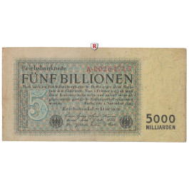 Inflation 1919-1924, 5 Bill Mark 01.11.1923, III, Rb. 127a