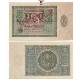 Inflation 1919-1924, 5 Bill Mark 15.03.1924, I, Rb. 138 M2