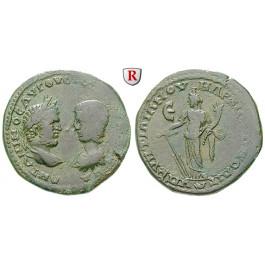Römische Provinzialprägungen, Thrakien-Donaugebiet, Markianopolis, Julia Domna, Frau des Septimius Severus, Bronze, f.ss